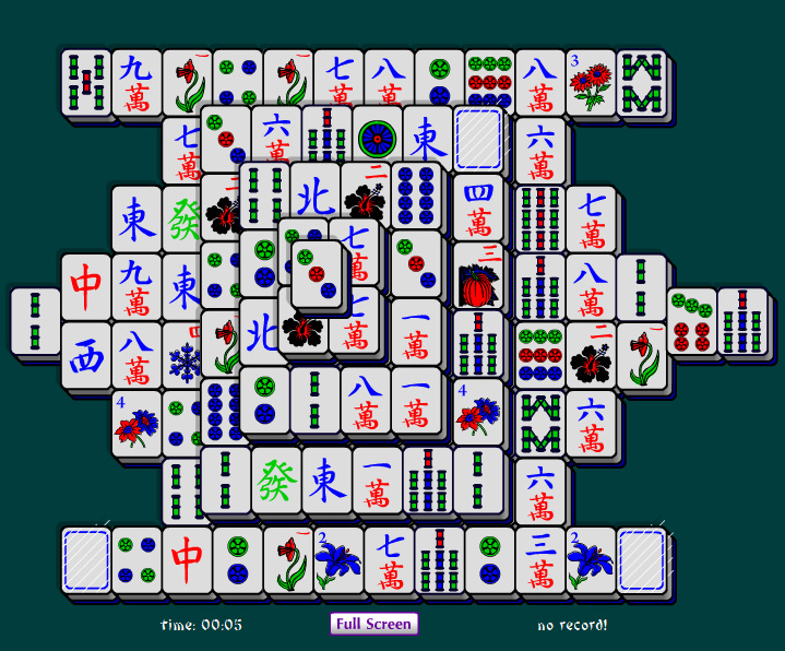 Online Mahjong Pyramid is a difficult mahjong