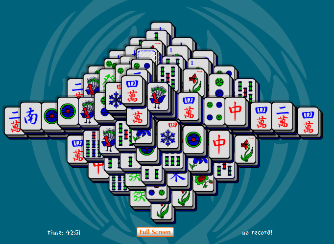 Online Mahjong Tower Solitaire tile matching