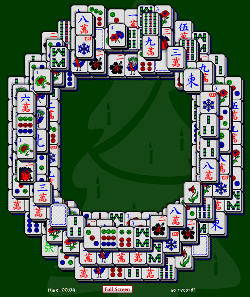 Christmas Wreath Mahjong Solitaire